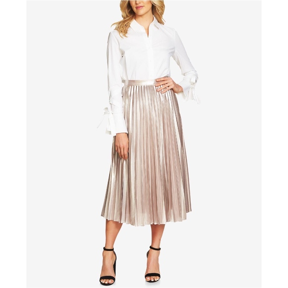 bd71761bf143 1. State Skirts | 1state Metallic Pleated Midi Skirt Size 4 | Poshmark